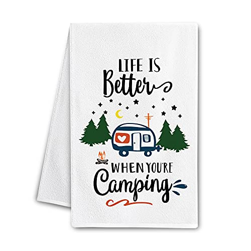 Hexagram Camping Dish Towel - Life is Better When You're...