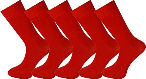 Mysocks 5 paia caviglia calzini rosso