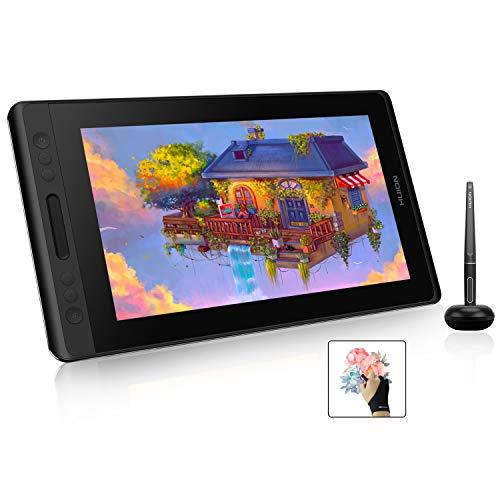Huion Kamvas Pro 13 GT-133 Graphics Drawing Monitor 13.3 inch IPS Pen Display Tilt Function 8192 Pen Pressure Battery-Free Stylus, Full-Laminated Screen, 120% sRGB