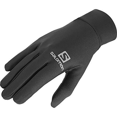Salomon Agile Warm Glove U, Guanti Comodi da Corsa/Escursionismo, L39014400 Unisex Adulto, Nero, L