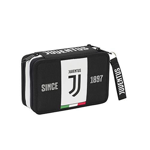 SEVEN SPA F.C. Juventus - Astuccio 3 Zip Completo Di Cancelleria - 2019-20 Licenza Ufficiale SEVEN