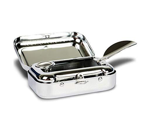 Cendrier de poche pour les déplacements – Petit & étanche – Mini...