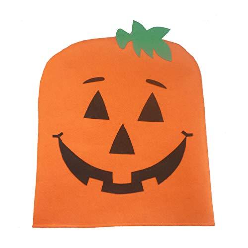 Amosfun 2Pcs Halloween Pumpkin Chair Back Cover Halloween Home House Decorations Ornaments