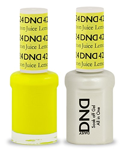 DND Soak Off Gel Polish Dual Matching Color Set 424, Lemon Juice by DND Duo Gel