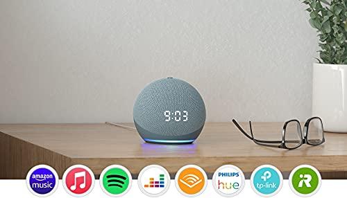 Echo Dot (4.ª generación) | Altavoz inteligente con reloj y...