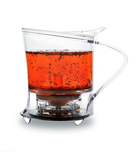 TEAXPRESS EasyBrew Bottom Dispensing Teapot Loose Tea Maker/Kettle/Infuser/Strainer; 450ml;...