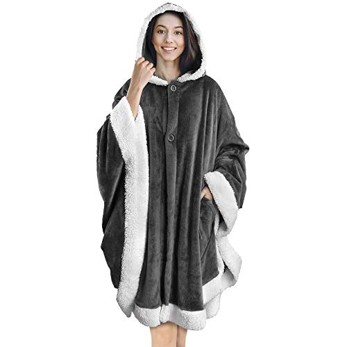 PAVILIA Angel Wrap Hooded Blanket   Poncho Blanket Wrap with...
