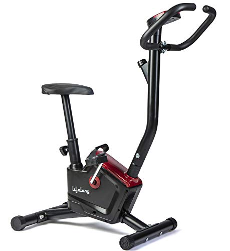Lifelong LLF54 Fit Pro Stationary Exercise Belt Bike for Weight Loss at Home with Display and Resistance Control