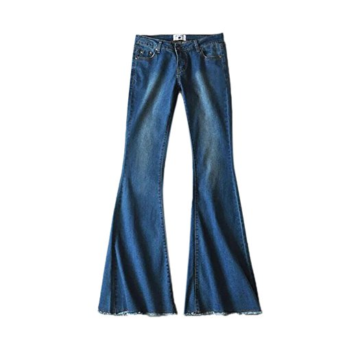 Hippie Retro Modern Pants Damen Hohe elastische Breathable Denim...