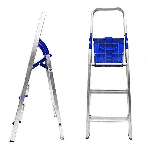 Escada Doméstica Dobrável em Alumínio 3 Degraus - Alume