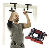 - CrossGrips - Door Pull-up Bar Handles - Doorframe Pullup Bar - Home and Travel Doorway Gym - Smart Clamp Adjustable - Portable