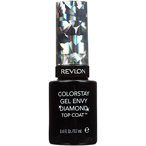 Revlon Color Stay Gel Envy Longwear Nail Enamel, Diamond Top Coat, 0.4 Fluid Ounce, 2 Count