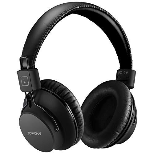 Mpow H1 Cuffie Over-Ear,Cuffie Bluetooth Con Microfono e Ricarica Rapida, Pieghevole,Hi-Fi Suono e Bassi Ricchi,Cuffie Wireless Leggere per lo Sport Per Celluallari/PC/TV
