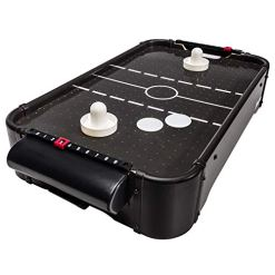 Franklin Sports 20In Air Hockey Strong Fans - Two Hockey Pushers and Hockey Pucks Included - Table Top Mini Air Hockey Perfect for Family Game Room Fun - Built-in Scoring for Kid Friendly Fun !
