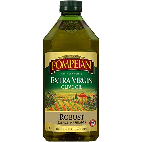 Pompeian Robust Extra Virgin Olive Oil, First Cold Pressed, Full-Bodied Flavor, Perfect for Salad Dressings and Marinades, Naturally Gluten Free, Non-Allergenic, Non-GMO, 68 FL. OZ., Single Bottle