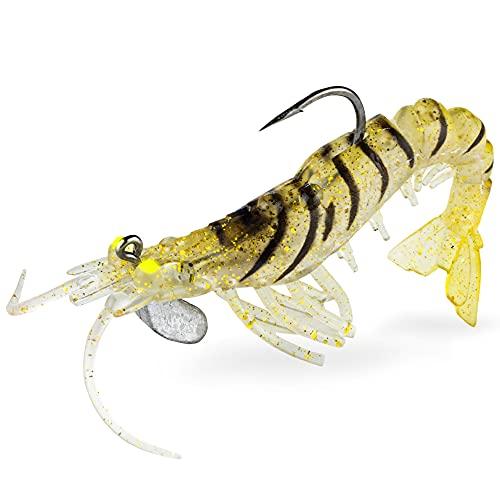 FISHN GRUMPYcrab 12,5 cm, 13,7 gr, 2 Pezzi - Pesce di Gomma Esca Artificiale Ultra Realistico per la Pesca di lucioperca, luccio, merluzzo Carbonaro, Zappe e Peso Inclusi (Wild Tiger)
