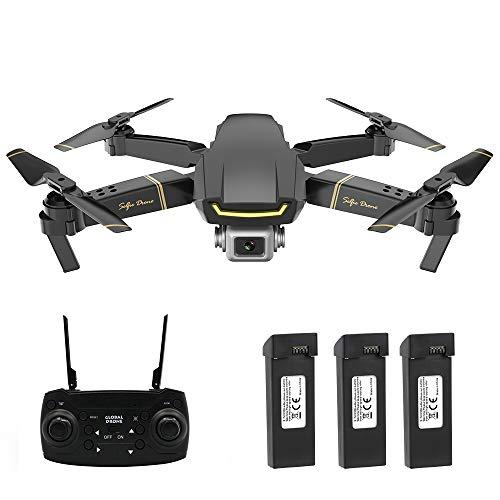 Mobiliarbus Drone RC con Fotocamera 1080P GW89 WiFi FPV Gesto Foto Video Altitude Hold Pieghevole RC...
