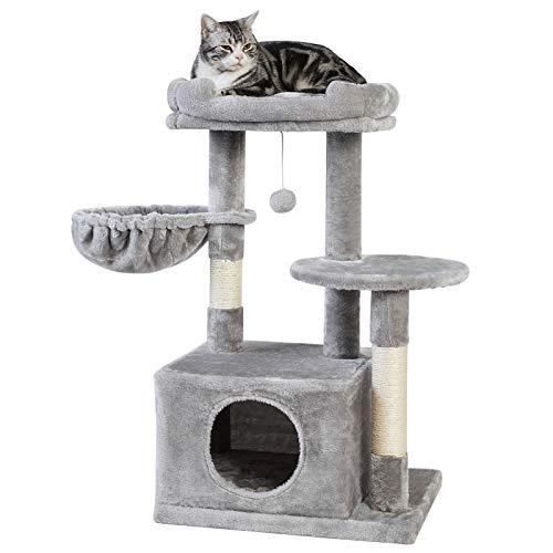 SUPERJARE Cat Tree with Plush Condos & Dangling...