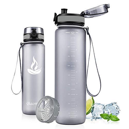Baomay Gourde Sport sans BPA, Anti-Fuite Bouteille d'eau avec Filtre -...