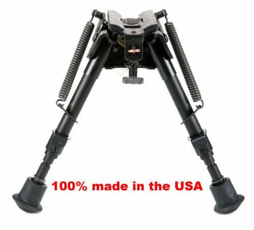 BRMS Harris bipod, 6' to 9' Swivels (tilts), notched legs...