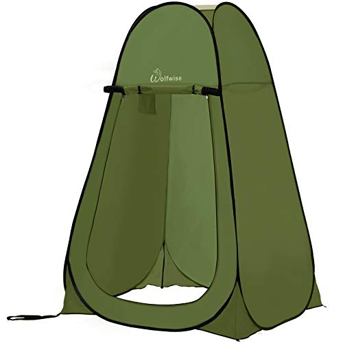 WolfWise Pop-up Shower Tent Green