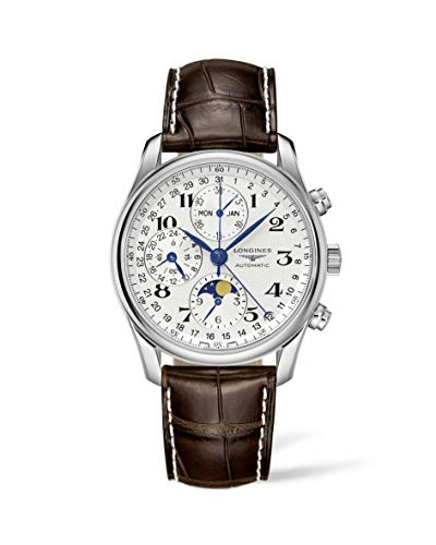 Longines Herren Chronograph Automatik Uhr mit Leder Armband L26734783