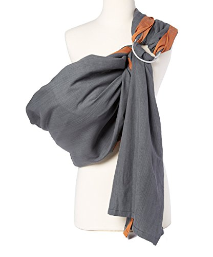 Hip Baby Wrap Ring Sling Baby Carrier for Infants and Toddlers (Stone)