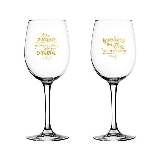 Mr. Wonderful Set de 2 Copas de Vino para Novios: Nos quedan