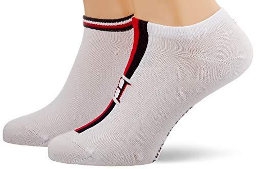 Tommy Hilfiger TH Men Sneaker 2p Iconic Stripe Calze, Bianco (White 300), 39/42 (Taglia Produttore: 39) Uomo