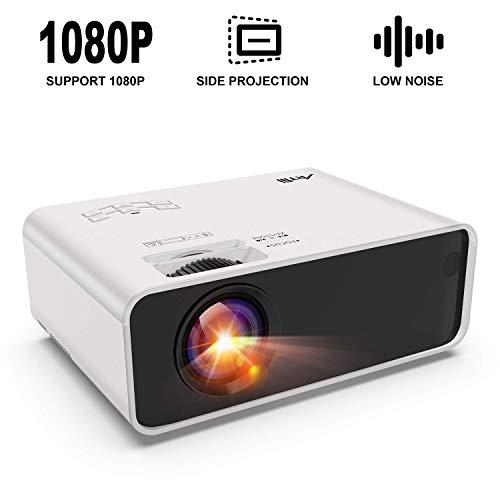 Mini Beamer - Artlii Enjoy Beamer Unterstützt ±45°Horizontale Trapezkorrektur und 1080P Full HD TragbarLED Beamer mit Zoomfunktion für Schlafzimmer, Kompatibel mit TV Stick/Smartphone/Chromecast /PS4