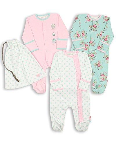 The Essential One - Baby Mädchen Schlafanzuge/Schlafanzug/Einteiler/Strampler (3-er Pack mit Beutel) 74/80cm ESS75