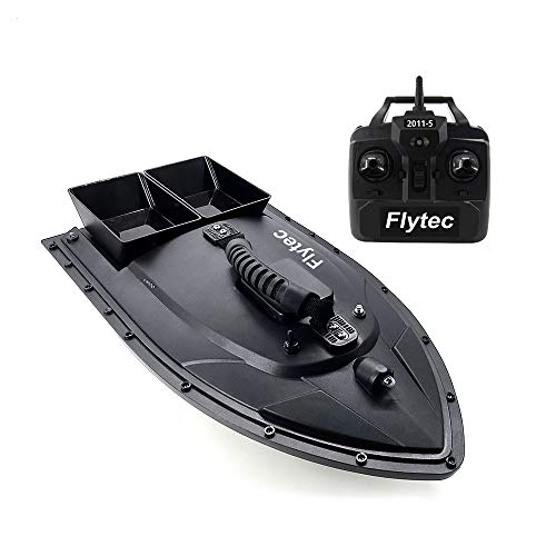 Flytec 2011-5 Fish Finder 1.5kg Caricamento 500m Remote Control Fishing Bait Boat RC Boat (Nero)
