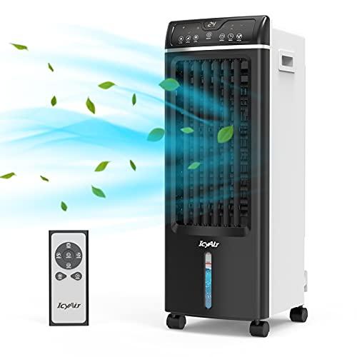 Climatiseur Mobile, Refroidisseur D'air de Purification, Ventilateur D'humidification 4 en 1 avec Télécommande, 550m³/h, 65w, Oscillation, Minuterie 1-7h, Vous Permet de Profiter de L'été Frais