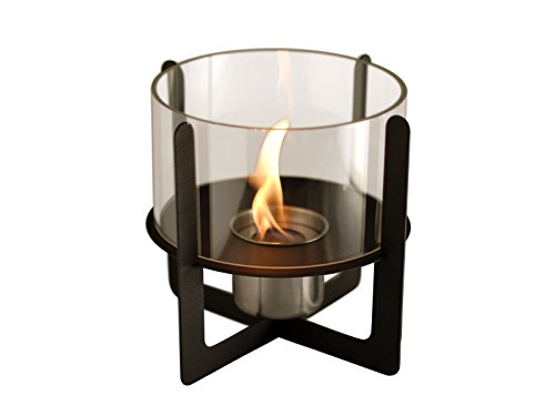 PURLINE SELENE - Tabletop biochimney with tempered glass