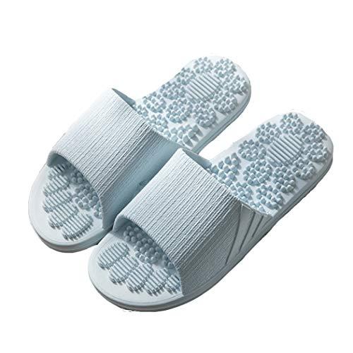 Veluckin Mujeres Zapatillas de Masaje Zapatos de Piscina Chanclas de Playa para Hombre Baño Antideslizante EVA Masajes,Blanco,38/39