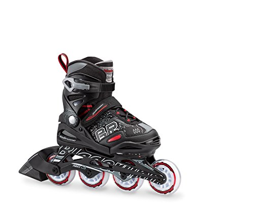 Bladerunner by Rollerblade Phoenix Boys Adjustable Fitness Inline Skate, Black and Red, Junior, Value Performance Inline Skates, US size Youth 5 to 8