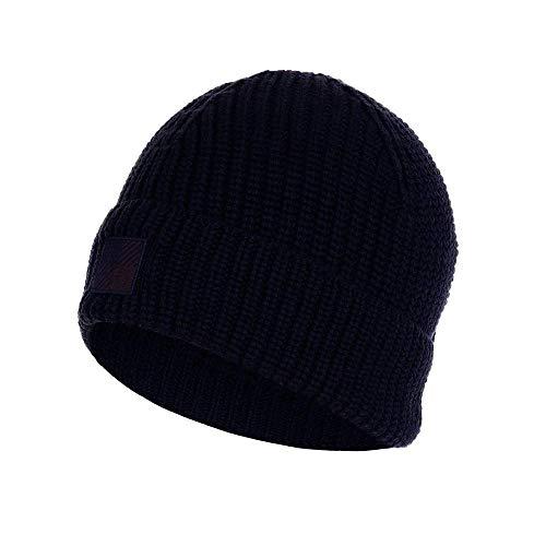 WOOLRICH Cappello Logo Beanie Hat Uomo Melton Blu L