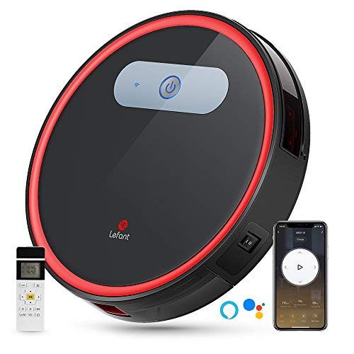 Lefant M501-B Robot Vacuum Cleaner with FreeMove, APP Control, Works with Alexa and Google, Auto Charge, Super Quiet, Sweeping Robotics Vacuums Cleans Pet Hair, Medium-pile Carpets and Hardwood Floors