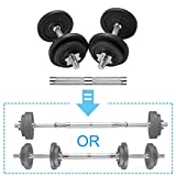 papababe Adjustable Dumbbells Cast Iron with Connector 40 50 65 105 200, Adjustable Dumbbell Sets,...