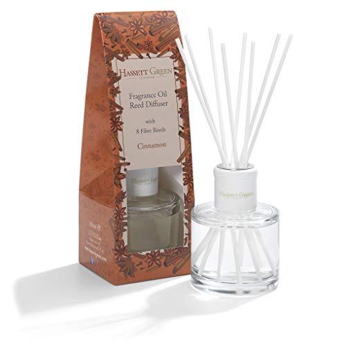 Duftöl-Diffusor – langlebiger Raum- und Raumduft – mit 8 Fiberstäbchen in stilvoller Glasflasche, 100 ml
