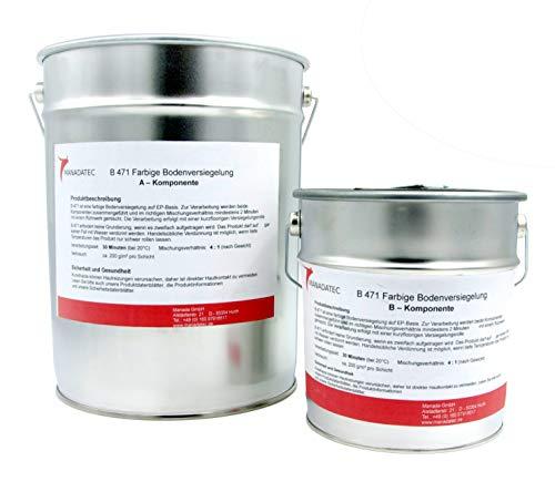 10KG 50m² viele RAL Farben 2K Epoxidharz BodenfarbeBodenbeschichtung Bodenversiegelung Betonfarbe Garagenbodenbeschichtung Fußbodenfarbe (RAL 9005 Schwarz)