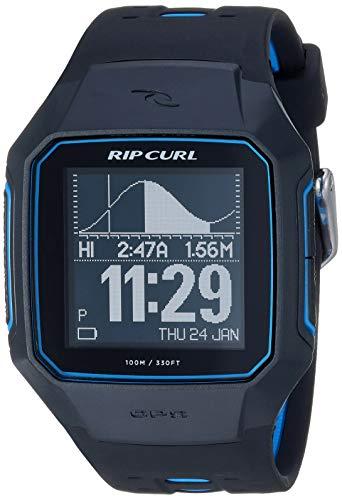 Rip Curl Men's SearchGPS Series 2 Quartz Sport Watch with Polyurethane Strap, Black, 25.9 (Model: A1144-BLU)