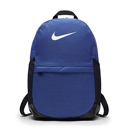 Nike Kids' Brasilia Backpack, Kids' Backpack with Durable Design & Secure Storage, Game Royal/Black/White