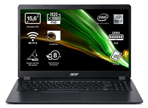 Acer Aspire 3 - Portátil 15.6' FullHD (Intel Core i3-1005G1, 8GB RAM,...