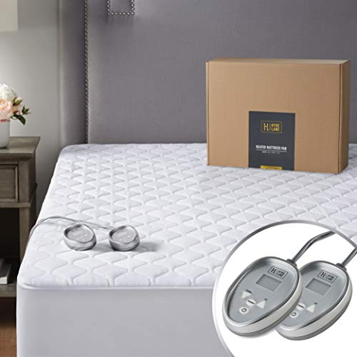 Premium Heated Mattress Pad California King Size| Quilted Cotton Heated Mattress Pad with 20 Heat Setting & Auto Shut Off |Relieve Sore Muscles/Joints