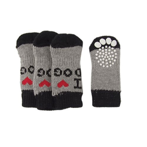 Calzini Pet - SODIAL(R) Inverno costine Hem Acrilico Pet Socks
