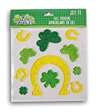 Regent Products Corp Holiday St. Patricks Day Horseshoes and Shamrocks Gel Window Clings - 11 Piece