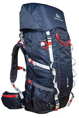 NORDKAMM – Mochila Trekking, 50l – 60l (max. 66 litros), Mochila...