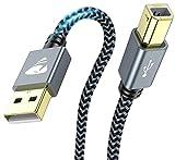Câble Imprimante USB, [2M] Câble USB 2.0 A Mâle vers B Mâle, Cordon Scanner...
