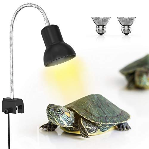 DADYPET Lámpara para Tortuga, UVA de 25W, Dos Basking Iluminación de...